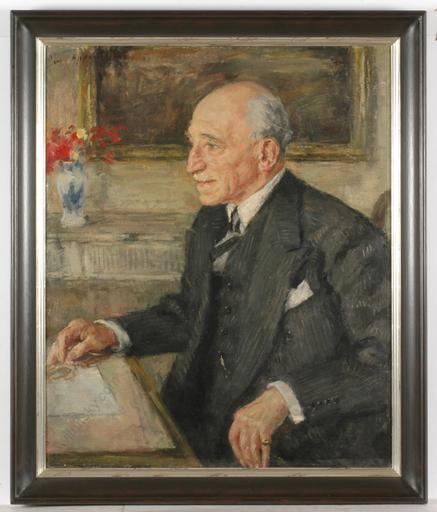 """Joseph OPPENHEIMER - Peinture - Portrait of a Jewish connoisseur"""", oil on canvas"""
