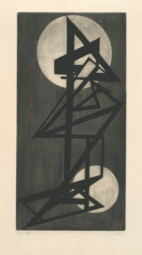 Pierre COURTIN - Grabado - GRAVURE SIGNÉE AU CRAYON HANDSIGNED ETCHING ABSTRACTION