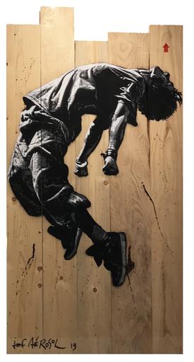JEF AÉROSOL - Pittura - Jumping Man