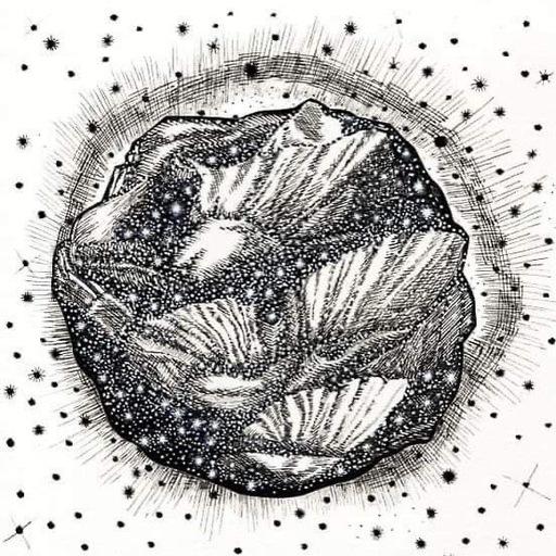 Sandra GHOSN - Zeichnung Aquarell - Fleur cosmique