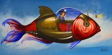 Carlos SABLÓN - Gemälde - Voyage fantastique I