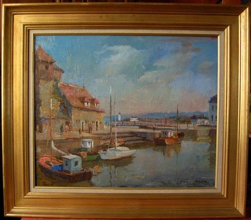 FRAN-BARO - Painting - Honfleur