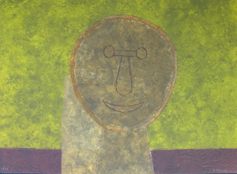 Rufino TAMAYO - Print-Multiple - *Cabeza Sur Fonde Verte