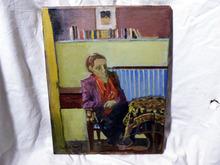 Carlos NADAL - Painting - Woman sitting at table