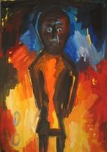 Helmut MIDDENDORF - Pintura - African puppet, 1989