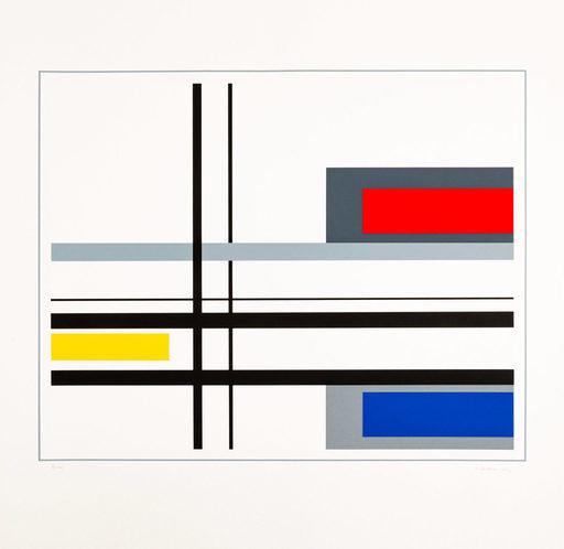 Jean Albert GORIN - Stampa-Multiplo - Geometric composition