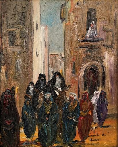 Louis ALBAN - Pintura - Le harem