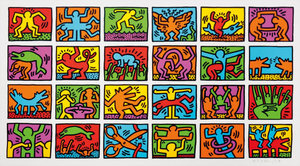 Keith HARING - Estampe-Multiple - RETROSPECT