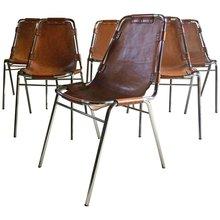 Charlotte PERRIAND - Ensemble de 6 chaises Les Arcs (c. 1960)