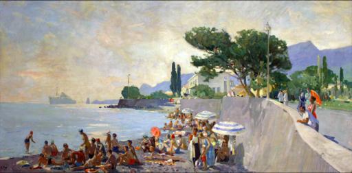 Fiodor ZAKHAROV - Painting - Crimean beach
