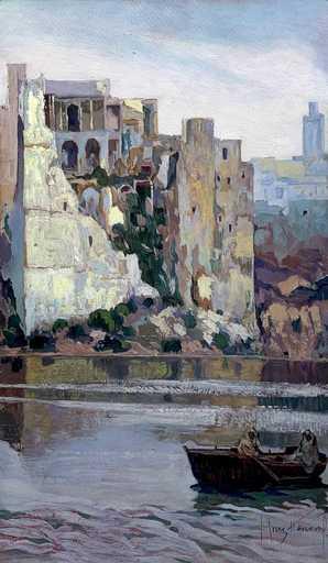 José CRUZ HERRERA - 绘画 - View of Morocco