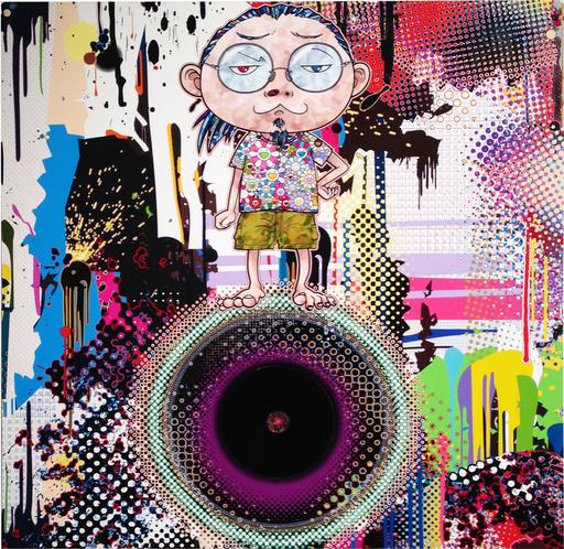 Takashi MURAKAMI - Grabado - Contemplating dark matter