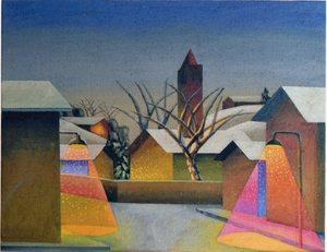 SALVO - Painting - IL VILLAGGIO