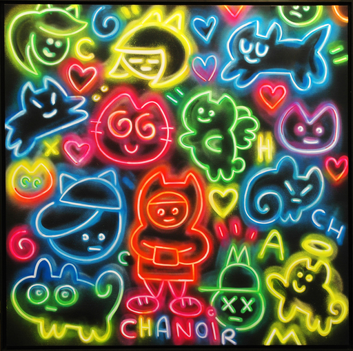 CHANOIR - Pittura - Chas Néons Multicolore