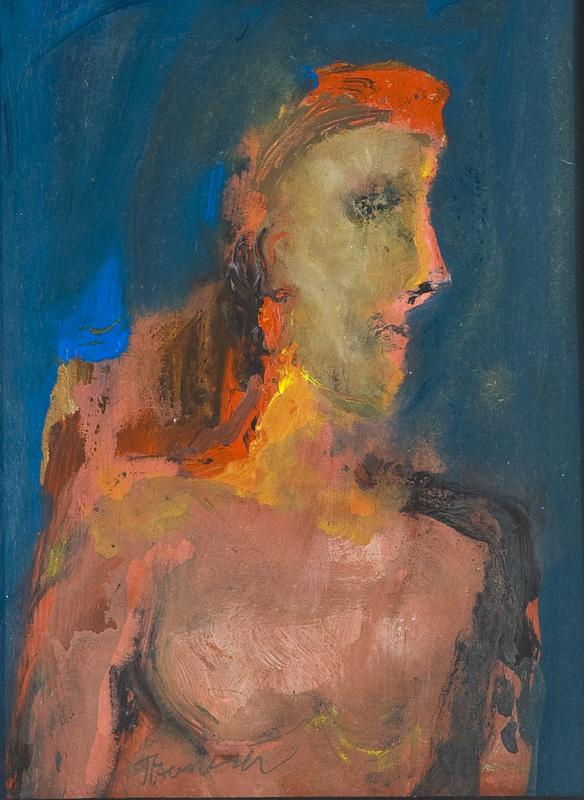 Douglas THOMSON - Pintura - Seated Figure