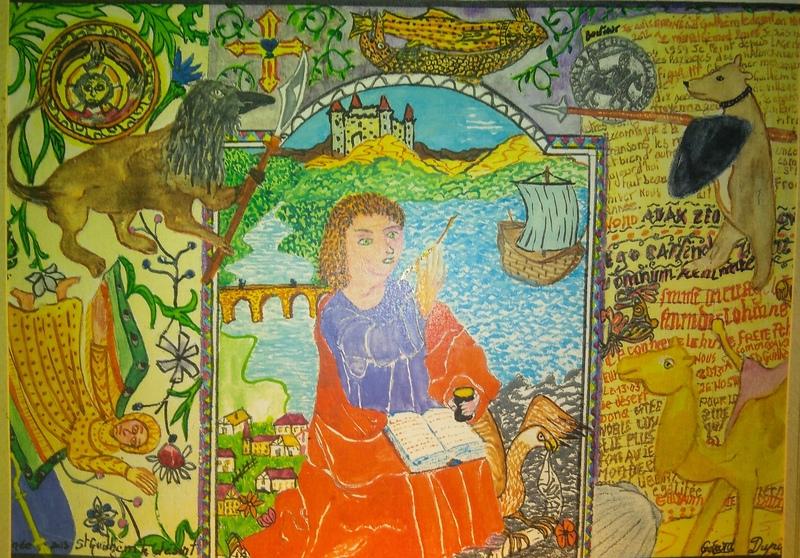 Gérard DUPIRÉ - Drawing-Watercolor - Enluminure st Guihèm du déssert