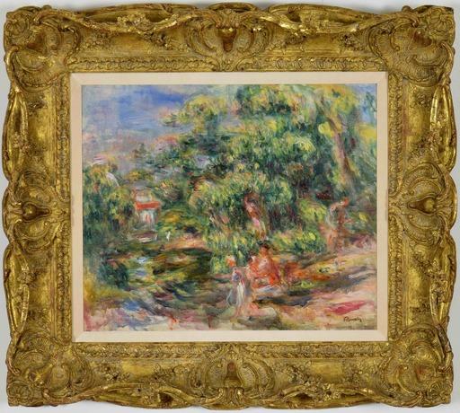 Pierre-Auguste RENOIR - Painting - Lavandières au bord du Loup