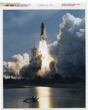 N.A.S.A. - Photography - Nasa, American Space Shuttle Launch, red serial number