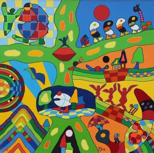 Michael JANSEN - Painting - Wanderschaften