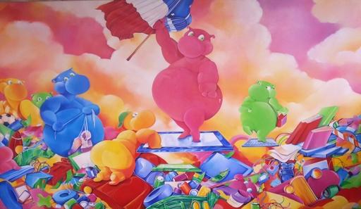 Cécile MARCHAND - Painting - La liberté de Con-sommation
