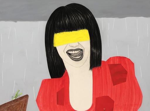 Mateo ANDREA - Peinture - VESTIDO ROJO