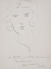 Henri MATISSE - Drawing-Watercolor - Portrait of Margaret (Bibi)