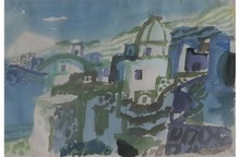Eduard BARGHEER - Drawing-Watercolor - Forio Ischia