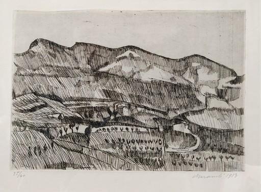 Giorgio MORANDI - Estampe-Multiple - Paesaggio, Grizzana