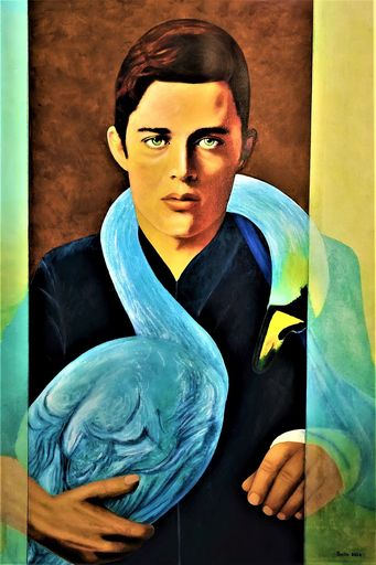 Christian SATIN - Painting - Blue Swan    (Cat N° 7391)