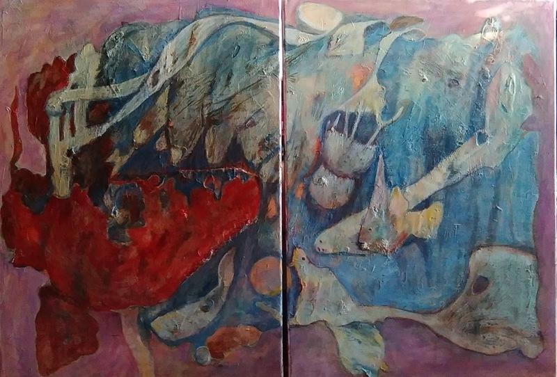 Ewa WITKOWSKA - Painting - Coral