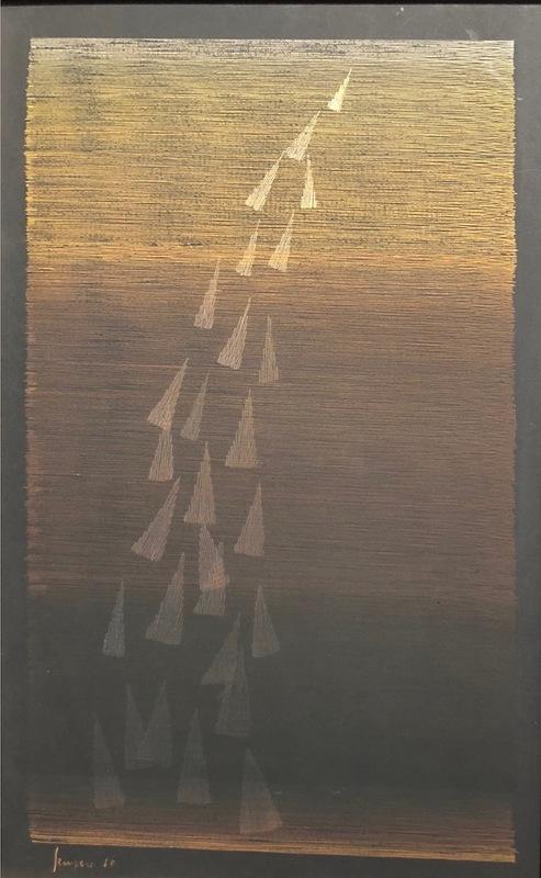 Eusebio SEMPERE - Pintura - Lluvia