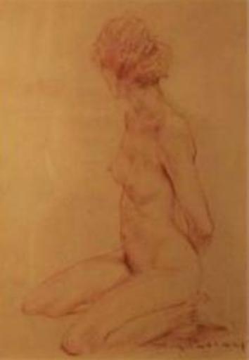 Roy PETLEY - Pintura - Danseuse nue