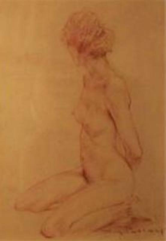 Roy PETLEY - Pittura - Danseuse nue