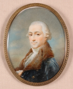 Johann Baptist I VON LAMPI - Miniatura - Johann Baptist Lampi(1751-1830)-CIRCLE, Portrait Miniature