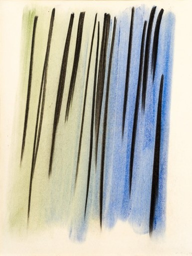 Hans HARTUNG - Peinture - Composition abstraite