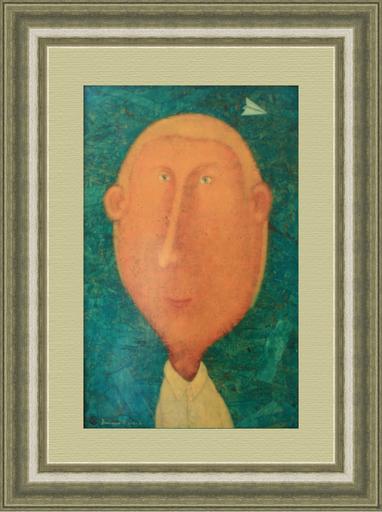 Roman ANTONOV - 绘画 - A portrait with a paper airplane