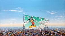 Jeff GILLETTE - Peinture - Mickey Billboard Plastic Landfill