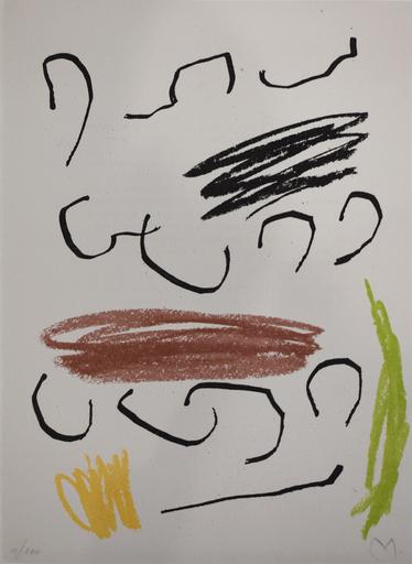 胡安·米罗 - 版画 -  Composition VII, from: Recent Unpublished Works