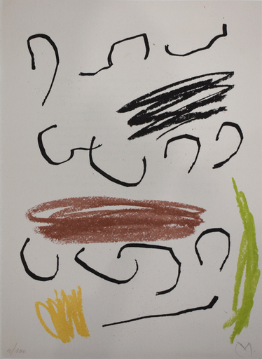 Joan MIRO - Estampe-Multiple -  Composition VII, from: Recent Unpublished Works