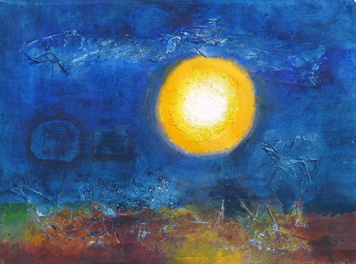 Michel CONSTANT - Painting - Ondes. Le bateau ivre. Tout soleil est amer.
