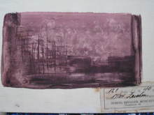 Eugène GABRITSCHEVSKY - Drawing-Watercolor - paysage imaginaire
