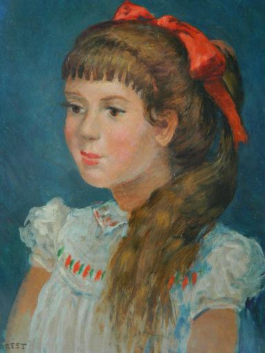 Pierre FOREST - Painting - PORTRAIT - JEUNE FILLE - RITRATTO