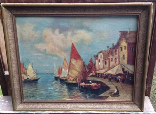 Cesare MONTI - Pintura - Puerto Mediterraneo