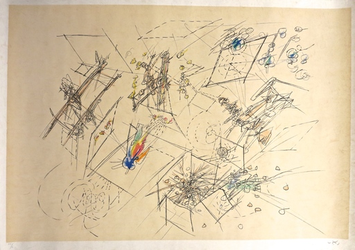 Roberto MATTA - Stampa-Multiplo - Five lithographies on Japon, plate I