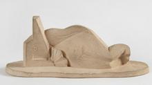 Henri LAURENS - Sculpture-Volume - Femme couchée à l'éventail
