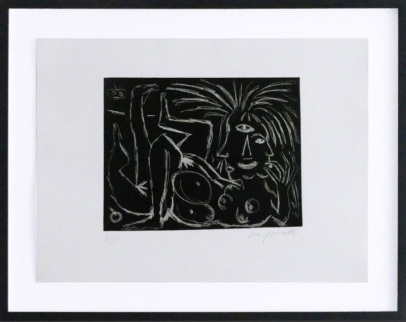 A.R. PENCK - Estampe-Multiple - Muse