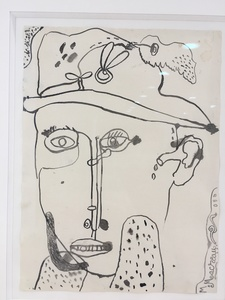 Michel MACRÉAU - Drawing-Watercolor -  Portrait 1965 Encre de chine S P 31 x 23,5.jpg