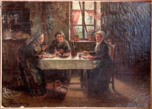"""Timothée HACQUART - Painting - """"LA TABLEE DES FEMMES"""""""