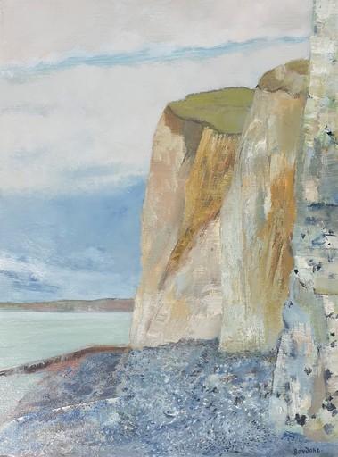 Guy BARDONE - Painting - Marine aux Falaise, Normandie