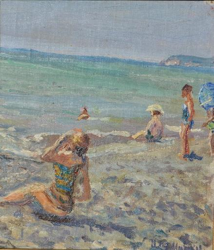 Ilja Iwanowitsch MASCHKOFF - Pintura - On the Beach